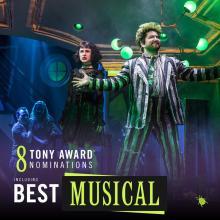 Beetlejuice, la obra de Broadway de la que Diego Kolankowsky es uno de sus productores, nominada a 8 premios Tony